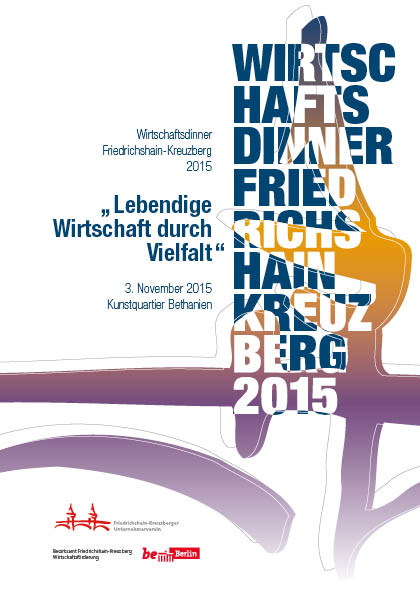 Titelseite Wirtschaftsdinner Friedrichshain-Kreuzberg Berlin 2015